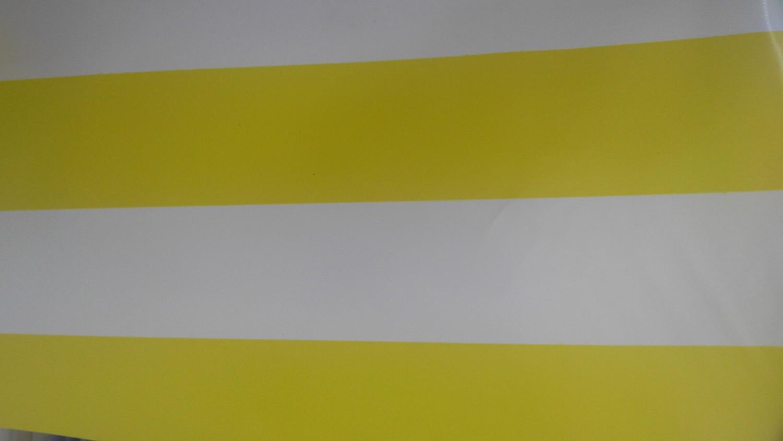 Sarı Çizgili PVC Branda