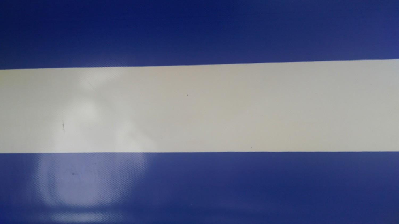 Mavi Çizgili PVC Branda